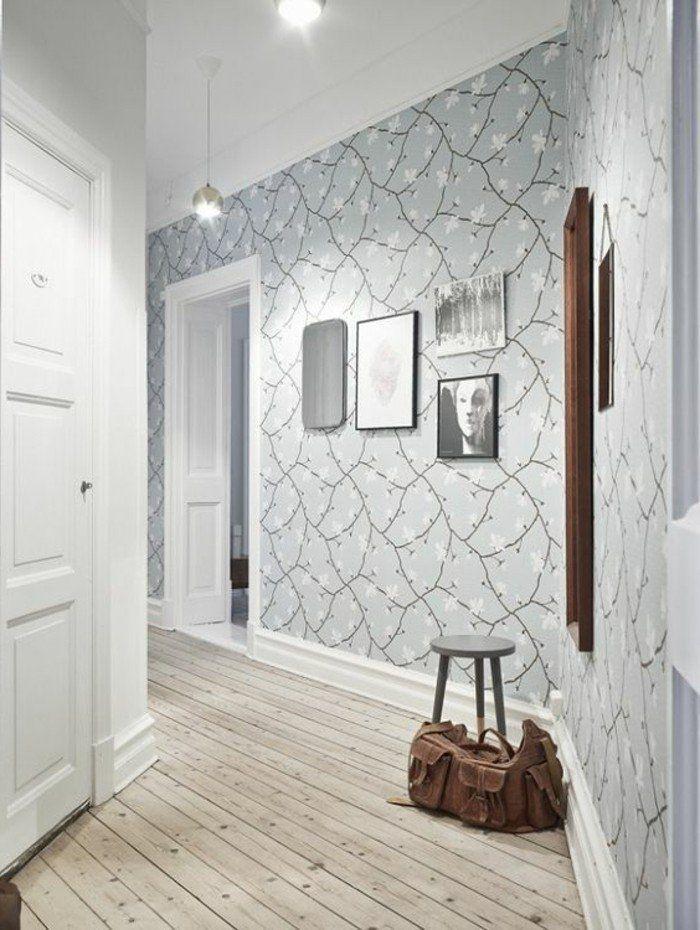 Papier peint pour couloir, comment faire le bon choix? 42 idées en photos!   Idée déco couloir ...