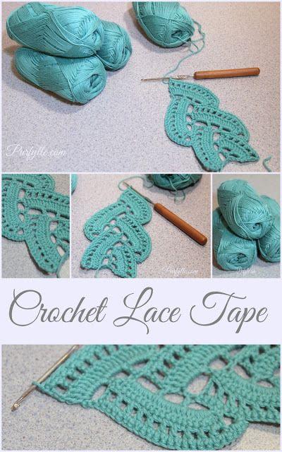 Purfylle: Crochet Lace Tape ༺✿ƬⱤღ✿༻