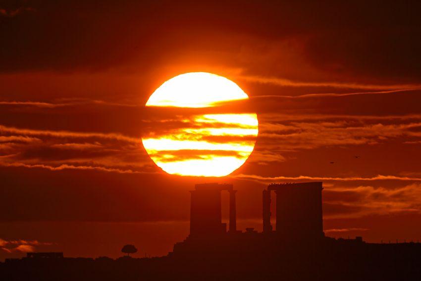 December Sunrise, Cape Sounion   Credit : Anthony Ayiomamitis (TWAN) - Awesome Greece
