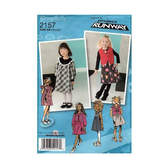 Girls Dress Or Jumper And Vest Project Runway Sewing Pattern