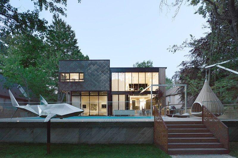 Somptueuse maison contemporaine aux matériaux finement assemblés