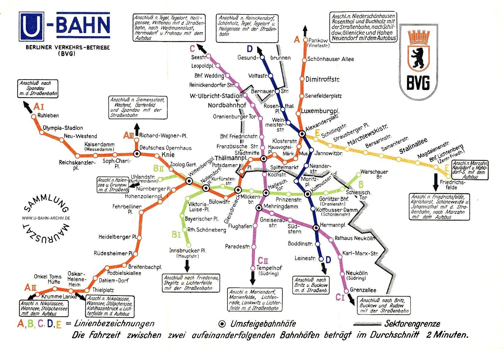 Plan öffentliche Verkehrsmittel Berlin