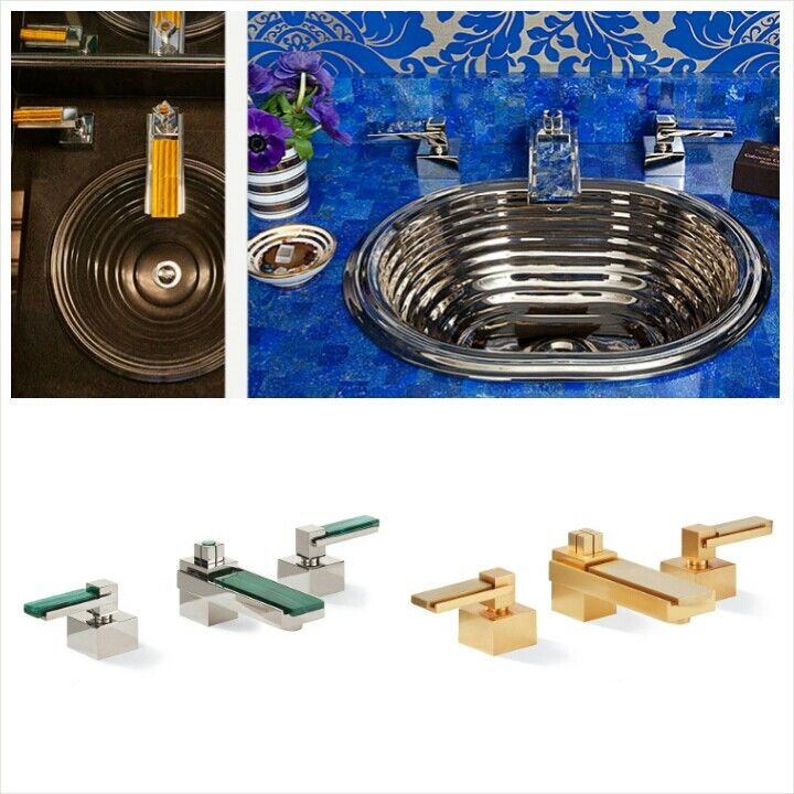 Sherle Wagner Apollo Collection Of Faucets/mixers And Bathroom Accessories  Can Have Accents Of Colors With Malachite, Blue Tiger, Lapizlazuli.