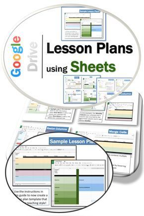 Lesson Plans using Google Drive Sheets School schedule, School and