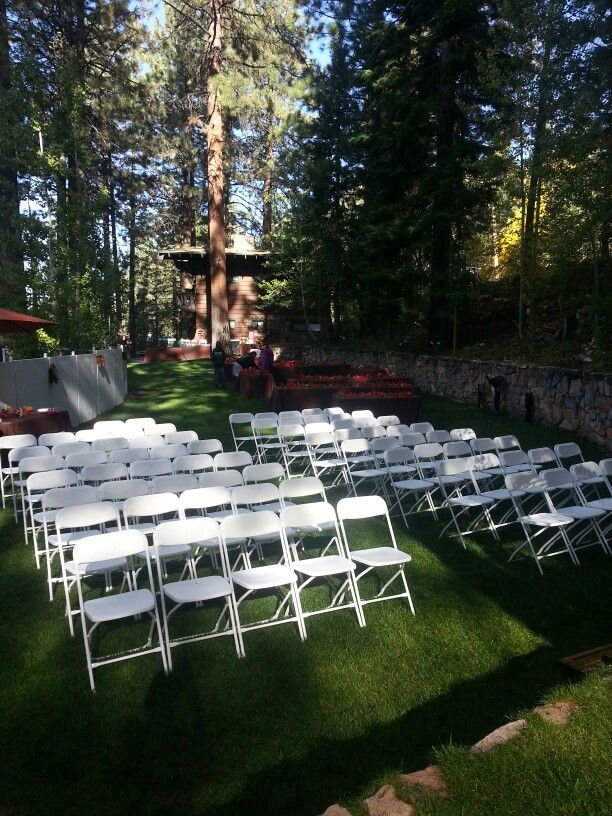 Beautiful October Day For A Wedding Ceremony At Pine Cone Resort In Zephyr Cove South Lake Tahoe Outdoor Furniture Sets South Lake Tahoe Outdoor Decor