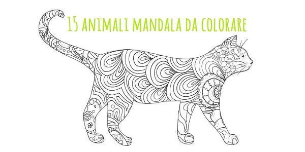 Mandala 15 Animali Da Colorare Scarica Gratis Mandala