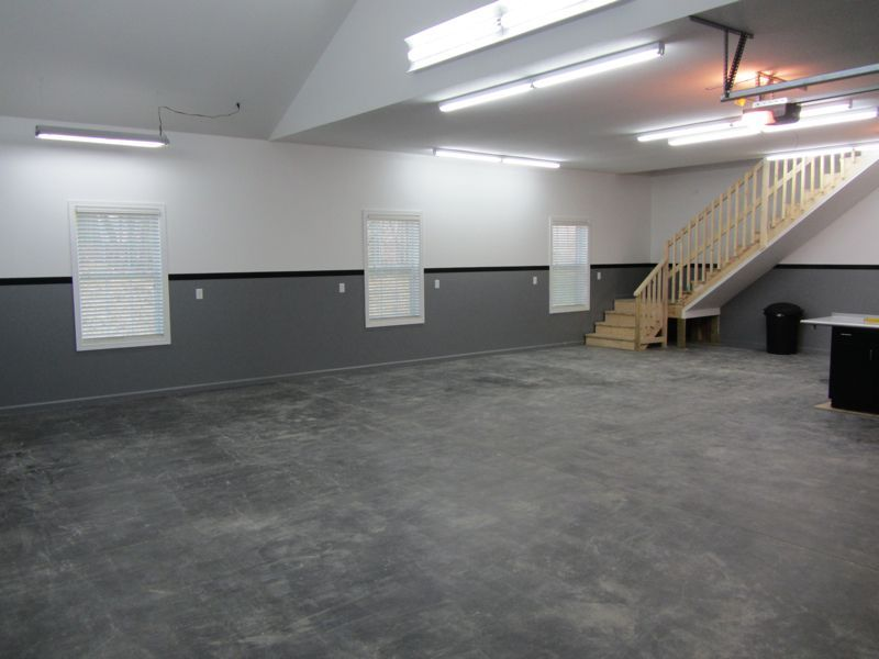 Painting Lines On Walls The Turbo Garage Diy Vinyl Wall Stripe Install And How To Tips Garage Floor Garage Paint Garage Interior