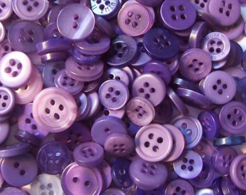100 Purple Fusion Mixed Buttons