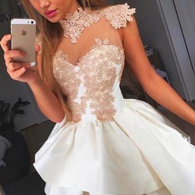 Appliques Prom Dress,Long Prom Dresses