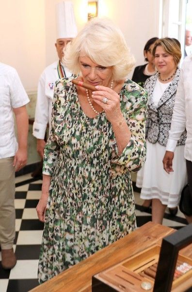 Camilla Parker Bowles Photos Photos: The Prince Of Wales And Duchess Of Cornwall Visit Cuba #visitcuba Camilla, Duchess of Cornwall smells a cigar as she visits a paladar called Habanera, a privately owned restaurant on March 27, 2019 in Havana, Cuba. Their Royal Highnesses have made history by becoming the first members of the royal family to visit Cuba in an official capacity. #visitcuba Camilla Parker Bowles Photos Photos: The Prince Of Wales And Duchess Of Cornwall Visit Cuba #visitcuba Cami #visitcuba