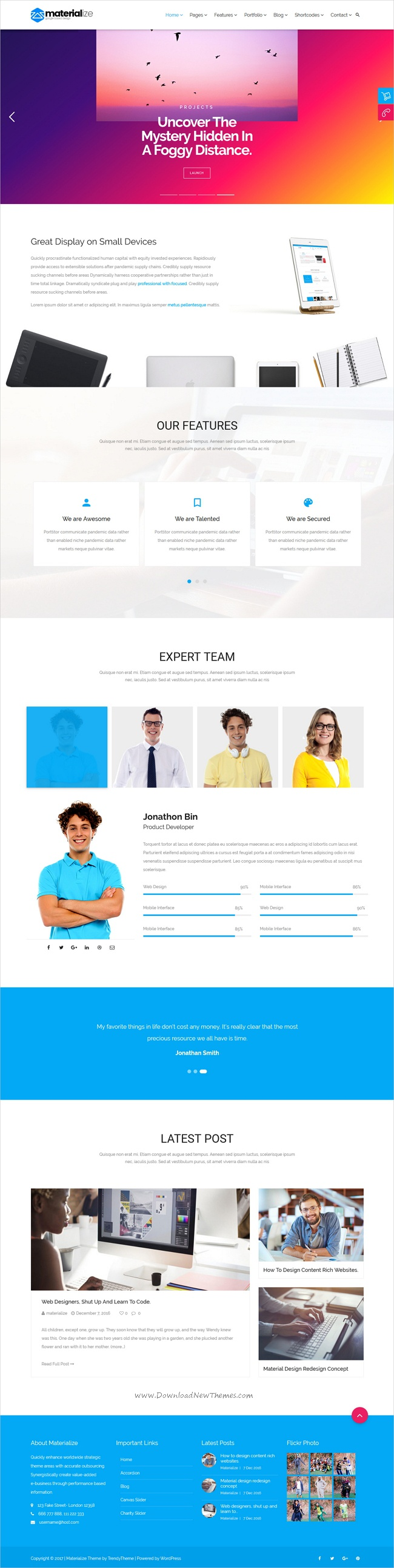 Pin by Web Design Inspiration on Best Responsive Website Template ...
