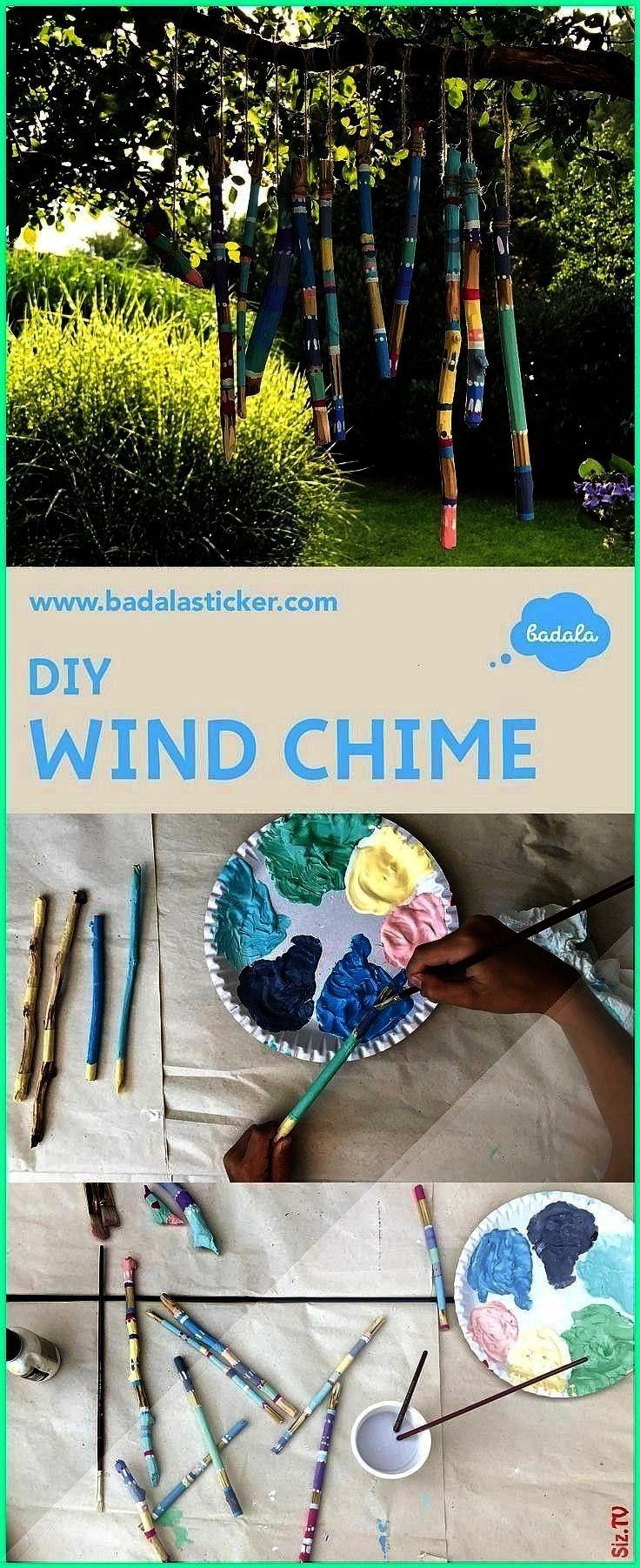 enjoy the time when your kids are busy with it Wind chime from wooden sticks that wood surfaces remain free wrap the s An easy wind chime enjoy the time when your kids ar...