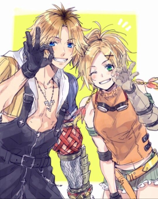 Rikku And Tidus Ffx Final Fantasy Collection Final Fantasy X Final Fantasy Girls