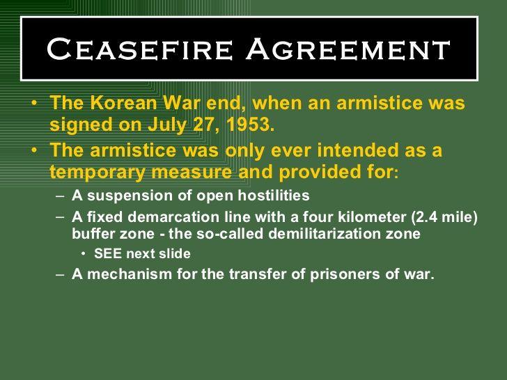Ceasefire Agreement Korean War Pinterest
