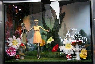 Alice in Wonderland display