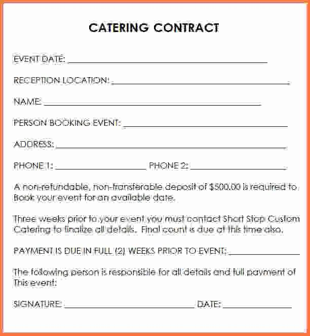Wedding Catering Contract Sample Catering Contract Template Word