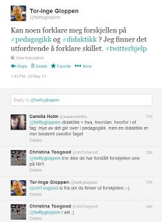 Gloppen - masterstudent ved Norges Idrettshøgskole: Hva er forskjellen på pedagogikk og didaktikk?