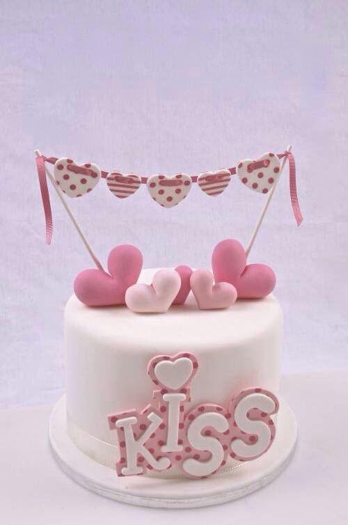 Romantic Cake di Paola Azzolina Cake Valentine heart and Cake designs