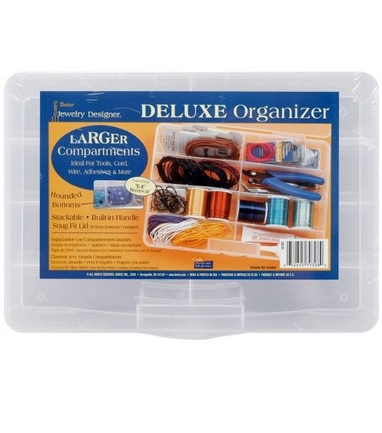 Darice Jewelry Designer Deluxe Organizer 8 Compartments Home