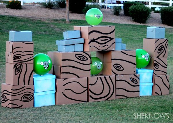 There S A Life Size Angry Birds Game And Yes You Can Make It