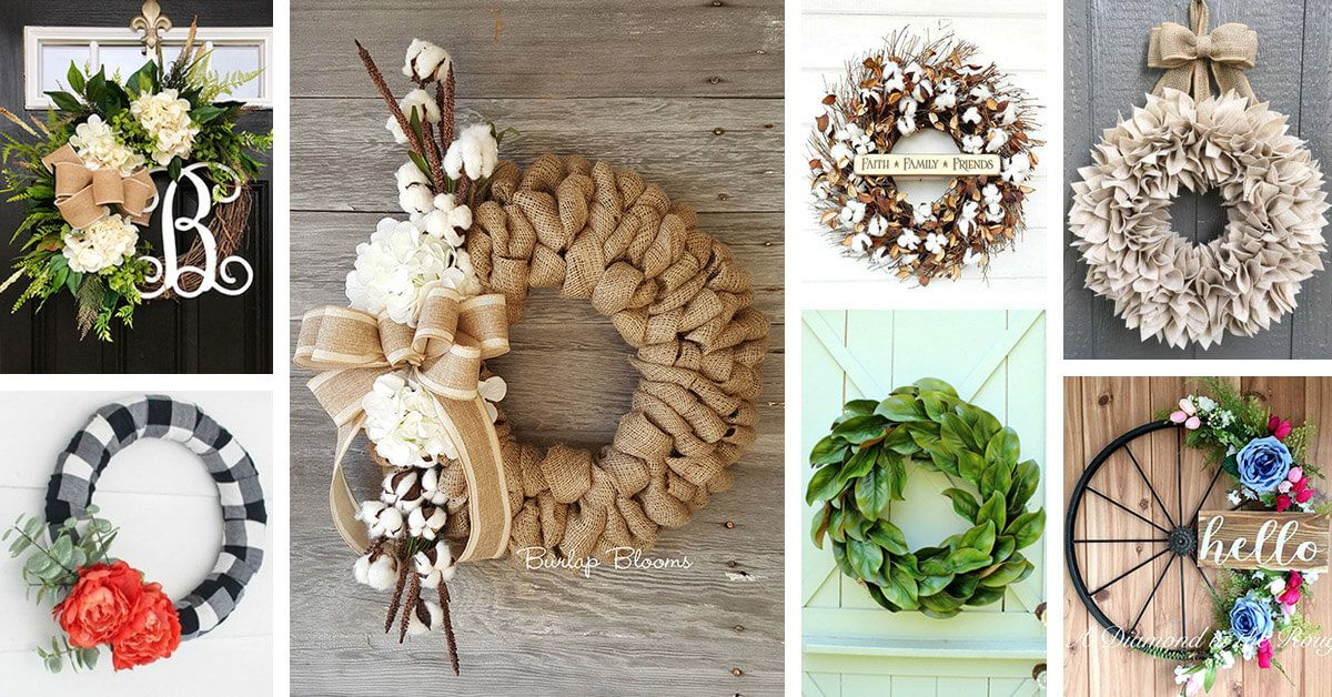 Photo of Rustic wreath ideas for farmhouses that give your front doo a touch of charm …