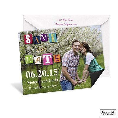 Lighthearted Letters Photo Save the Date Magnet WEDDINGS IDEAS - Formal Invitation Letters