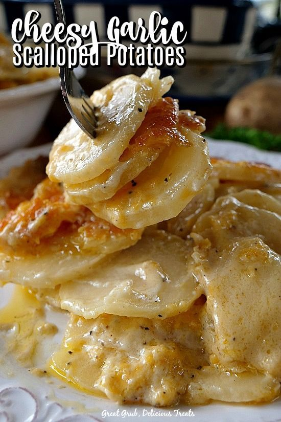 Cheesy Garlic Scalloped Potatoes are a delicious side dish recipe loaded with 3 …