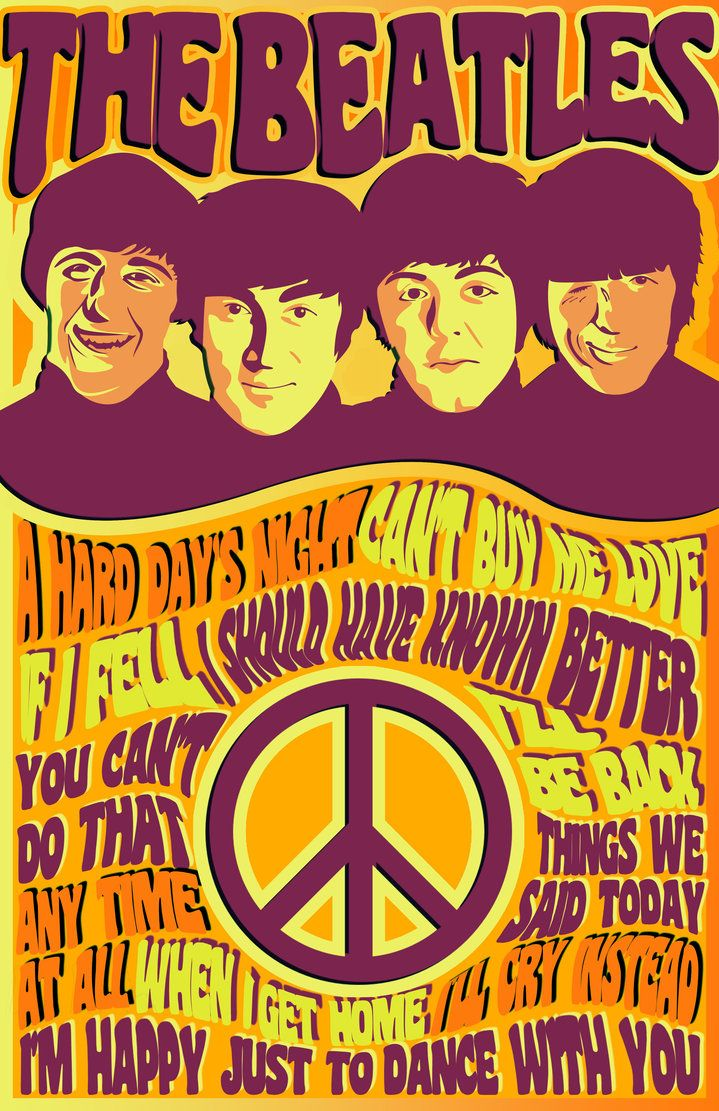 Poster design 1960s - The Beatles Poster Design