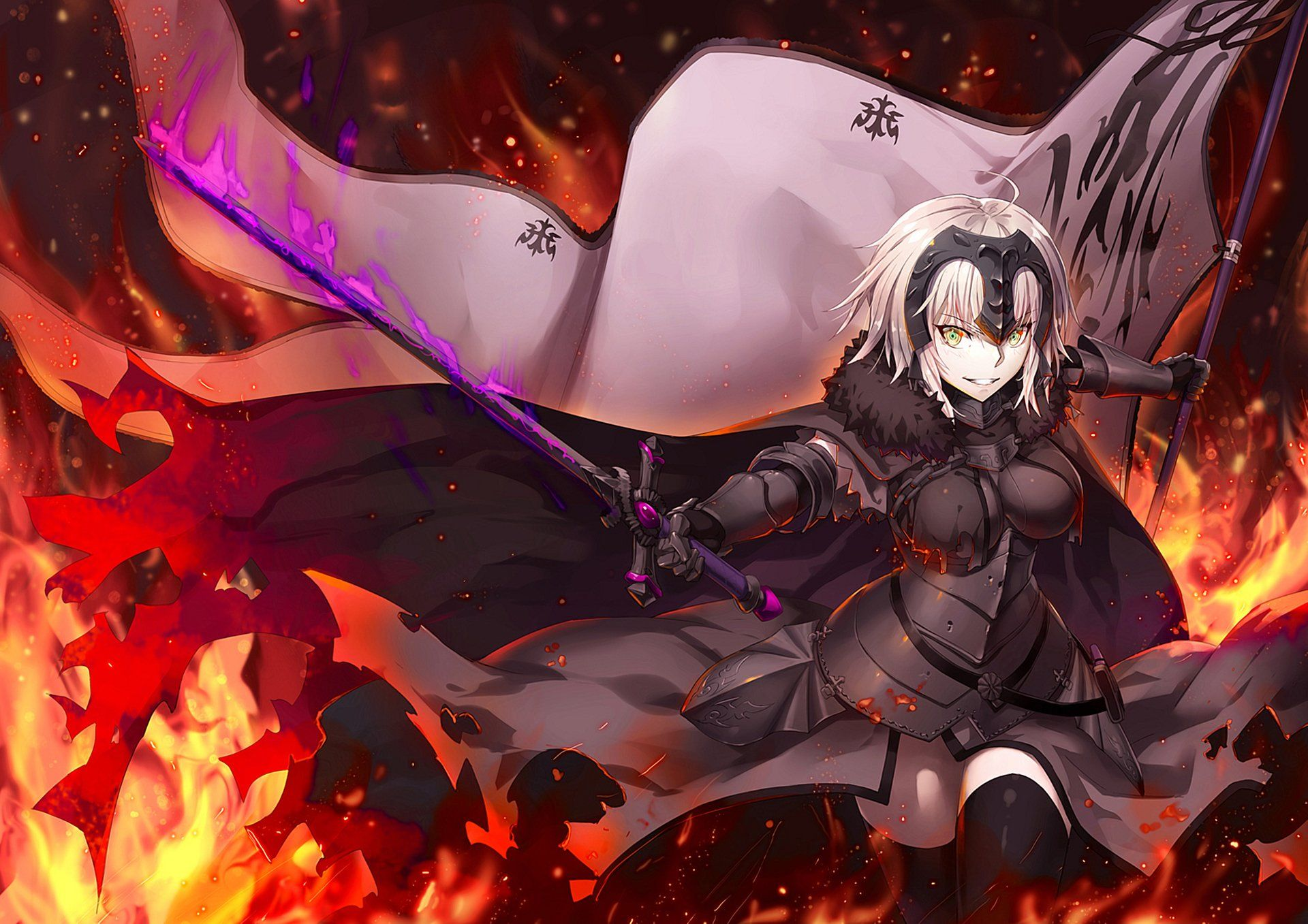 Anime Fate Grand Order Jeanne D Arc Alter Wallpaper Joan Of Arc Fate Anime Jeanne D Arc