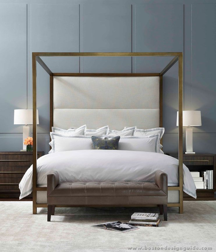 Mitchell gold bob williams pretty bed maybe without for Bedroom furniture without bed