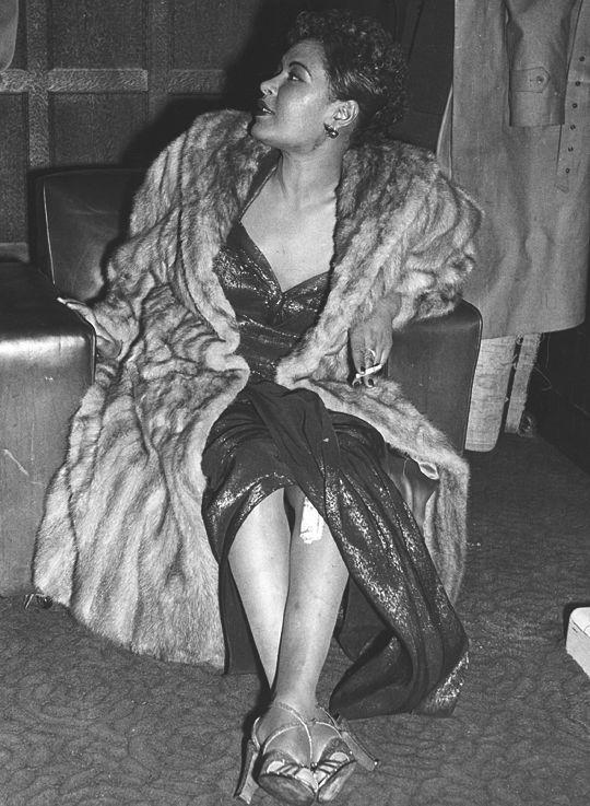"""Billie Holiday, 1954. """