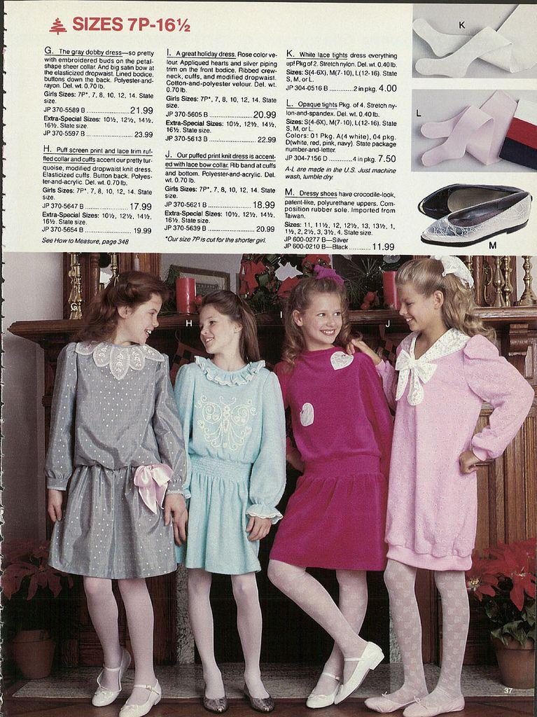 d45e9ad7ae4f 1987 girl s christmas dresses JC Penney Christmas Catalog via Wishbookbook
