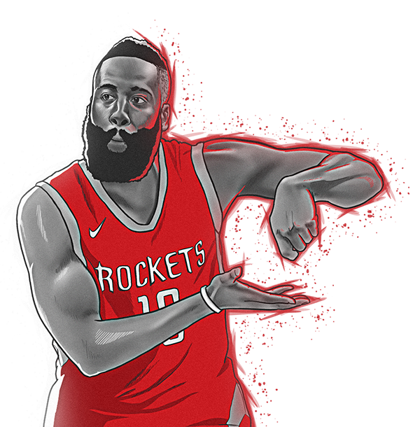 Nba Mvp Illustration Lebron Curry Harden Personal On Behance Nba Mvp Nba Mvp Basketball