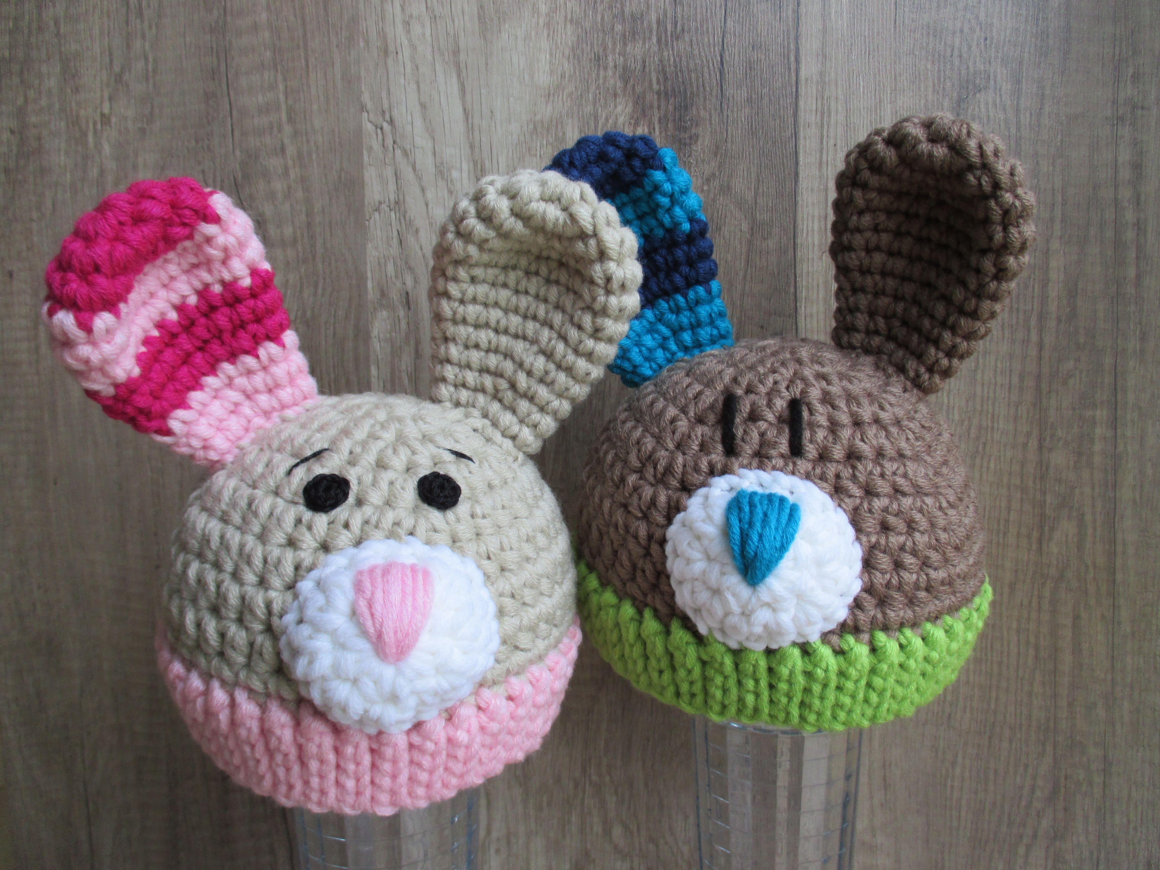 Baby- und Kindermütze Hase - Häkelanleitung | Hase, Häkelanleitung ...
