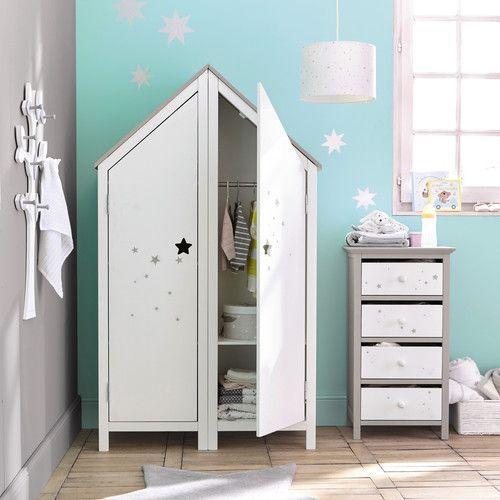 Armoire 1 Porte Blanche Baby Girl Room Decor Wooden Wardrobe Kids Room Design
