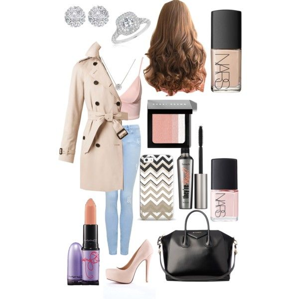 Polished Pink ♡ by silverangelxxy48 on Polyvore featuring Dark Pink, Burberry, Forever New, Givenchy, Reeds Jewelers, Allurez, NARS Cosmetics, Bobbi Brown Cosmetics, MAC Cosmetics and Benefit