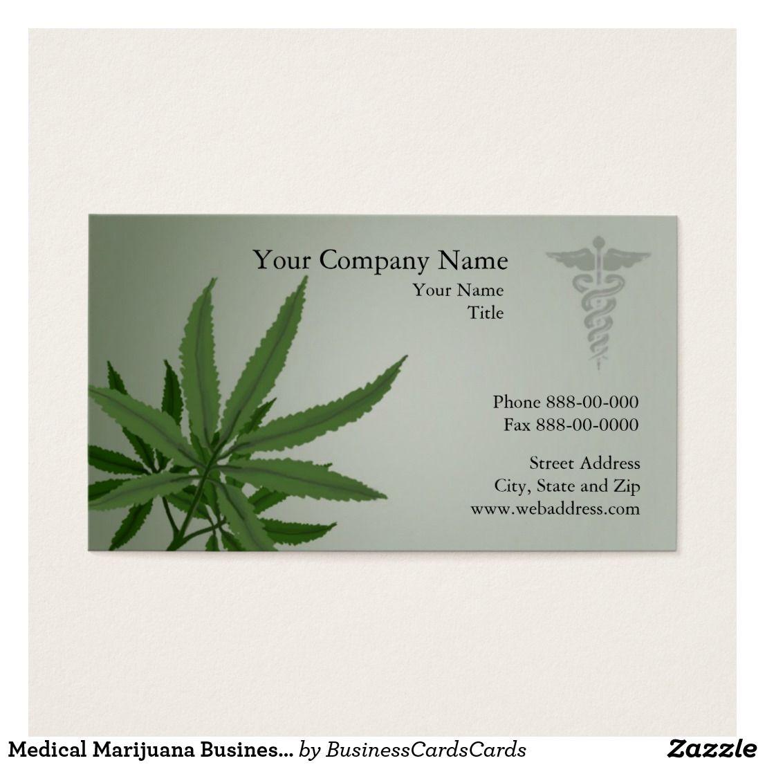 Medical Marijuana Business Card Cannabis Business Card Custom Check ...