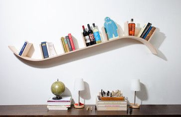 Modern Curved Bookshelf by Perfekte Velle - contemporary - wall shelves -  Etsy
