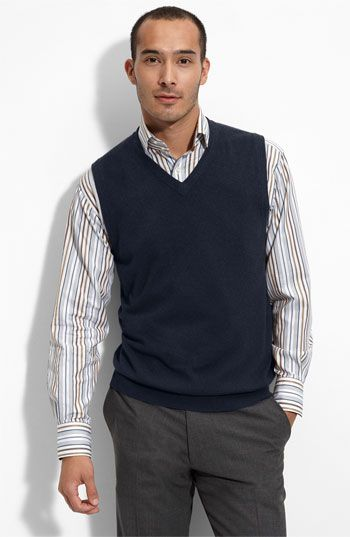 Another option for dressing up a smart casual look is a sweater ...