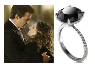 Carrie\'s Black Diamond Ring From the not so critically acclaimed ...