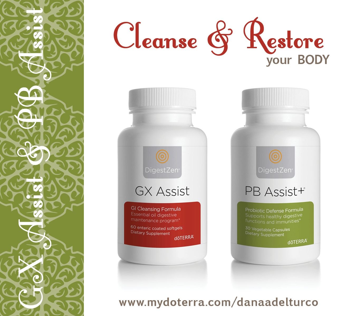 Cleanse & Restore with doTERRA's GX Assist & PB Assist