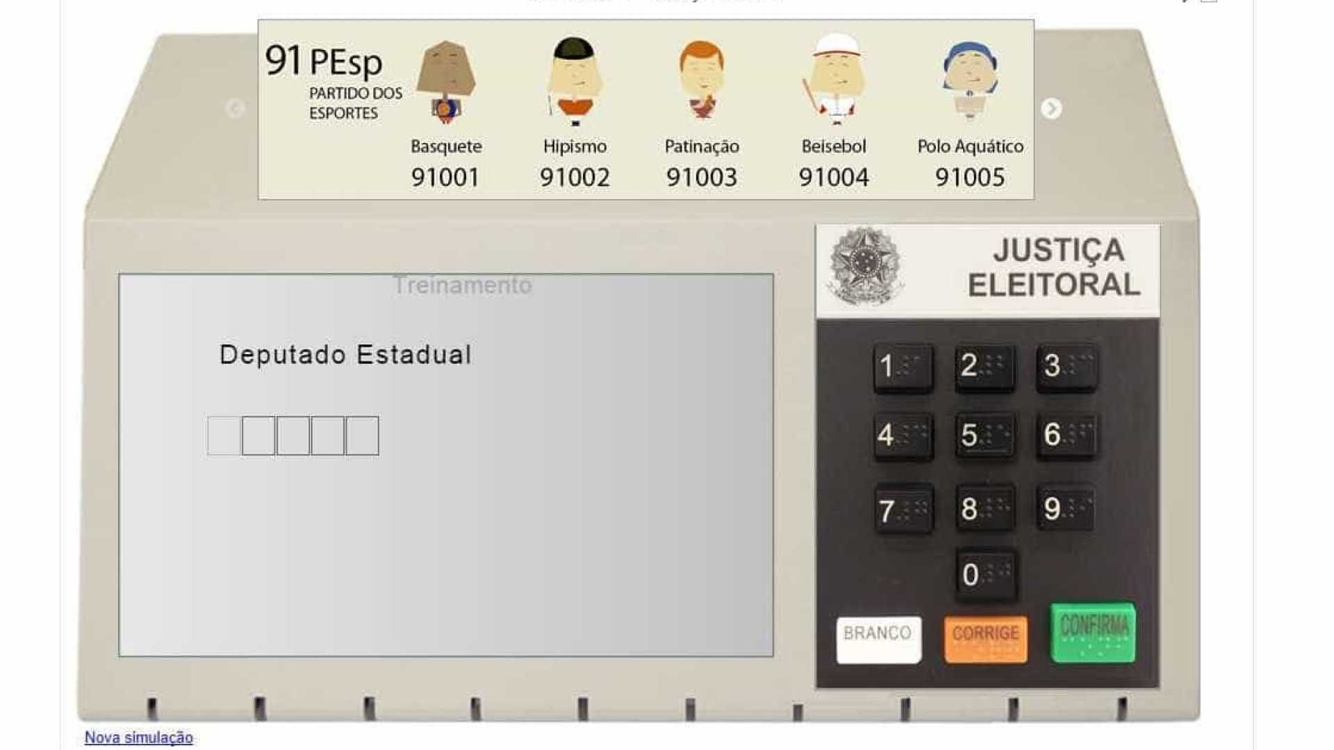 Software do TSE permite que eleitor simule voto na urna
