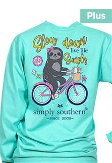a6d6da3f192 Simply+Southern+Preppy+Collection+Plus+Size+Sloth+Long+Sleeve+T-Shirt+for+ Women+in+Aruba+EXT-LS-SLOTH-ARUBA