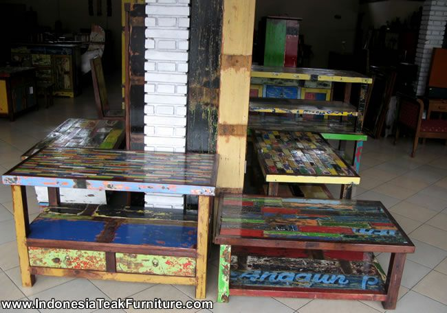 Bali Boat Wood Furniture Table Wood Furniture Recycled Wood Furniture Eco Furniture