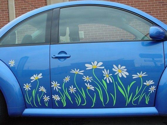 Daisy Decal Vinyl Sticker Graphics Punch Bug Pinterest - Vinyl decals car wash