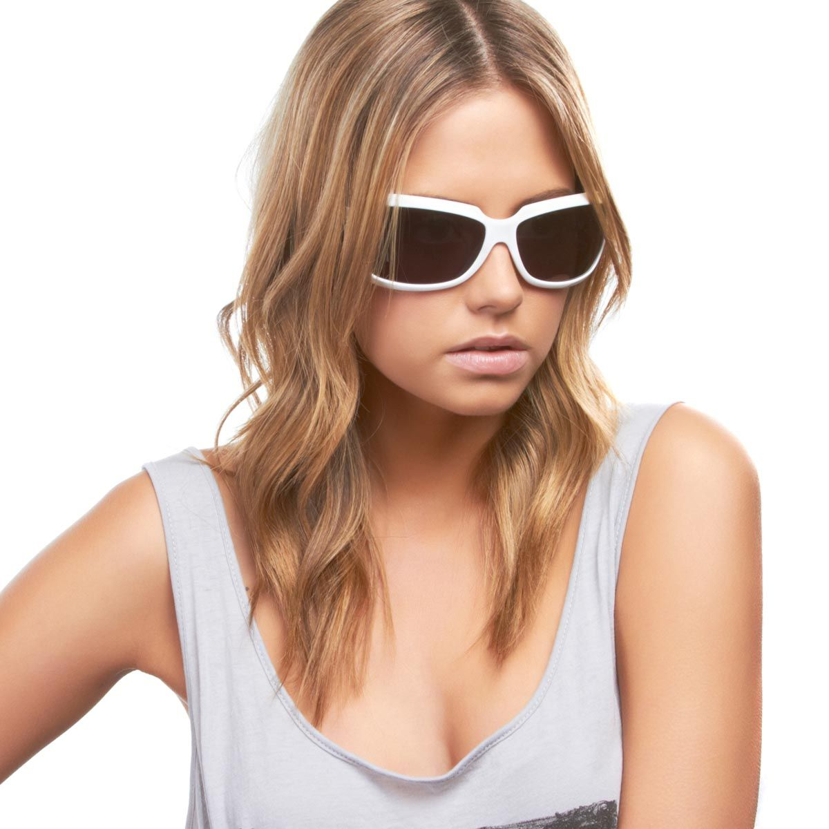 d106fef27c8 Carve from Giselle - these white or black sunglasses with thick frames and  smoked lenses are chic and functional.
