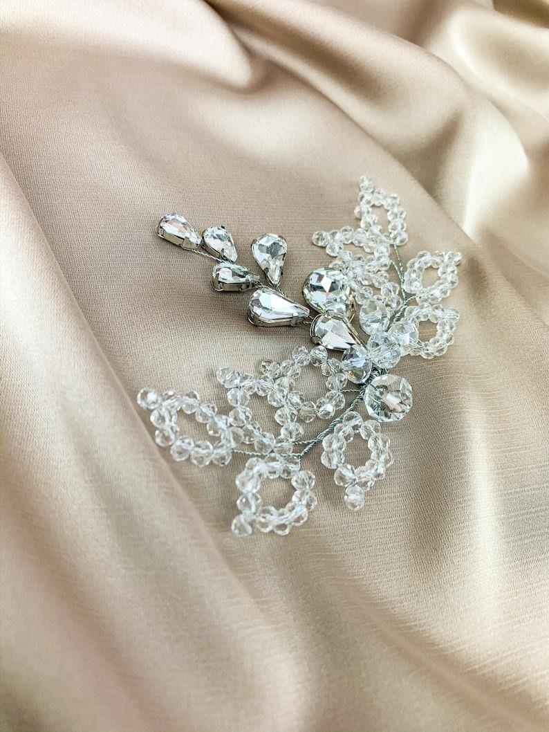 bridal accessories,Bridal hair piece, Wedding headband rhinestone, Bridal hair vine,  #bridalhairpiece