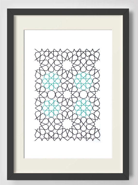 Geometric Pattern Moroccan Art Rosettes Arabesque Islamic Art Wall Art Motif Moroccan Art Home Decor H Moroccan Art Geometric Pattern Islamic Patterns