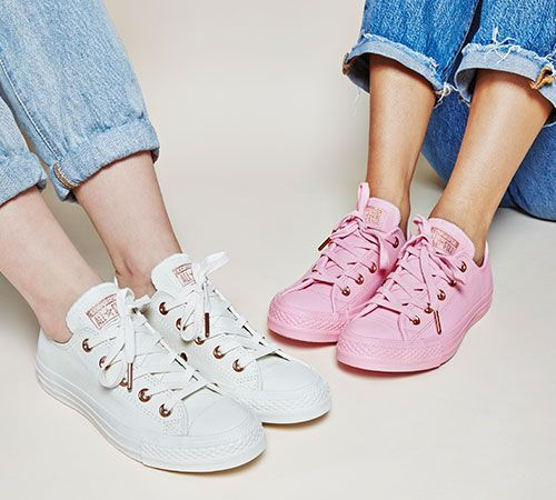 505cdeea80c6 Buy Porpoise Vapour Pink Exclusive Converse All Star Low Leather Trainers  from OFFICE.co.uk.