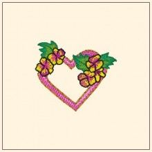 Lover's Heart Embroidery Design - Machine Embroidery Designs